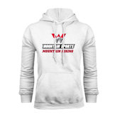 White Fleece Hoodie-Mountain Biking