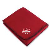 Red Arctic Fleece Blanket-Interlocking W Mountaineers - Official Logo