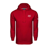 Under Armour Cardinal Performance Sweats Team Hoodie-Interlocking W Mountaineers - Official Logo