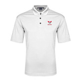 White Performance Fine Jacquard Polo-W Western