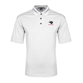 White Performance Fine Jacquard Polo-Mad Jack Mountaineers
