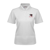 Ladies White Dry Mesh Polo-Mad Jack Mountaineers