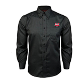 Red House Black Long Sleeve Shirt-Interlocking W Mountaineers - Official Logo