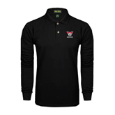Black Long Sleeve Polo-W Western