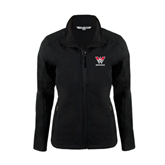 Ladies Black Softshell Jacket-W Western