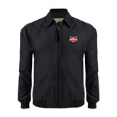 Black Players Jacket-Interlocking W Mountaineers - Official Logo