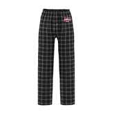 Black/Grey Flannel Pajama Pant-Interlocking W Mountaineers - Official Logo