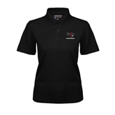 Ladies Black Dry Mesh Polo-Mad Jack Mountaineers