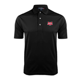 Black Dry Mesh Polo-Interlocking W Mountaineers - Official Logo