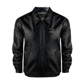 Black Leather Bomber Jacket-Mad Jack Mountaineers