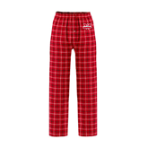 Red/Black Flannel Pajama Pant-Interlocking W Mountaineers - Official Logo