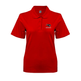Ladies Easycare Red Pique Polo-Mad Jack Mountaineers