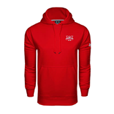 Under Armour Red Performance Sweats Team Hoodie-Interlocking W Mountaineers - Official Logo