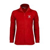 Ladies Fleece Full Zip Red Jacket-W Western