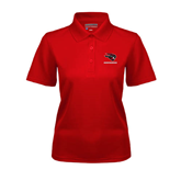 Ladies Red Dry Mesh Polo-Mad Jack Mountaineers