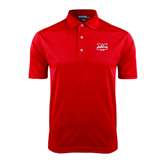 Red Dry Mesh Polo-Interlocking W Mountaineers - Official Logo