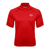 Red Textured Saddle Shoulder Polo-Interlocking W Mountaineers - Official Logo