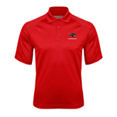 Red Textured Saddle Shoulder Polo-Mad Jack Mountaineers
