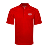 Red Mini Stripe Polo-Interlocking W Mountaineers - Official Logo