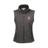 Ladies Fleece Full Zip Charcoal Vest-W Western