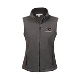 Ladies Fleece Full Zip Charcoal Vest-Mad Jack Mountaineers