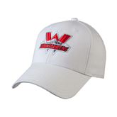 White Heavyweight Twill Pro Style Hat-Interlocking W Mountaineers - Official Logo
