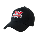 Black Heavyweight Twill Pro Style Hat-Interlocking W Mountaineers - Official Logo