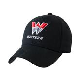 Black Heavyweight Twill Pro Style Hat-W Western