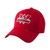 Red Heavyweight Twill Pro Style Hat-Interlocking W Mountaineers - Official Logo