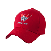 Red Heavyweight Twill Pro Style Hat-W Western