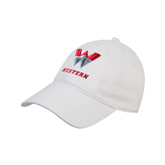 White Twill Unstructured Low Profile Hat-W Western