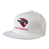 White OttoFlex Flat Bill Pro Style Hat-Mad Jack Mountaineers