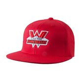 State Colorado Red OttoFlex Flat Bill Pro Style Hat-Interlocking W Mountaineers - Official Logo