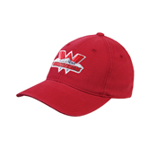 State Colorado Red OttoFlex Unstructured Low Profile Hat-Interlocking W Mountaineers - Official Logo