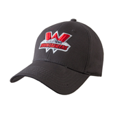 Charcoal Heavyweight Twill Pro Style Hat-Interlocking W Mountaineers - Official Logo