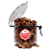 Deluxe Nut Medley Round Canister-Interlocking W Mountaineers - Official Logo