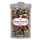 Snickers Satisfaction Large Round Canister-Interlocking W Mountaineers - Official Logo