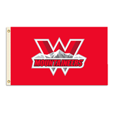 3 ft x 5 ft Flag-Interlocking W Mountaineers - Official Logo