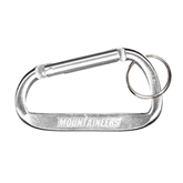 Silver Carabiner with Split Ring-Mountaineers Engrave