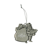 Pewter Santa Ornament-Interlocking W Mountaineers - Official Logo Engrave