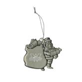 Pewter Santa Ornament-Interlocking W Mountaineers - Official Logo Engrave