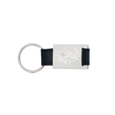 Leather Black Key Holder-Interlocking W Mountaineers - Official Logo Engrave