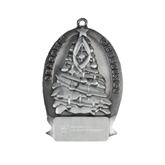 Pewter Tree Ornament-W Western State Colorado University Engrave