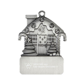Pewter House Ornament-W Western State Colorado University Engrave