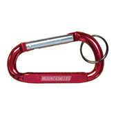 Red Carabiner with Split Ring-Mountaineers Engrave