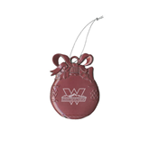 Pink Bulb Ornament-Interlocking W Mountaineers - Official Logo Engrave
