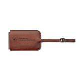Fabrizio Brown Luggage Tag-W Western State Colorado University Engrave
