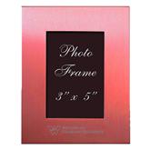 Pink Brushed Aluminum 3 x 5 Photo Frame-W Western State Colorado University Engrave
