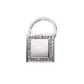 Crystal Studded Square Key Holder-Interlocking W Mountaineers - Official Logo Engrave