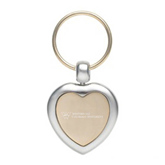 Silver/Gold Heart Key Holder-W Western State Colorado University Engrave